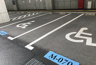 車いす用駐車場:画像